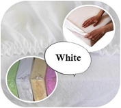 Jersey 100% Cotton Fitted Sheet Suits Cot Bed 140x70 cm - WHITE