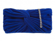 Classic Velvet Feel Clutch With Rouched Detailing In A Great Choice Of Colours
