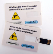 "'Fun USB Flash Drive - Credit Card Business Card, Credit Card - 4 Gb - ""Do you really Erschießen Now. Data Storage or Gifts"