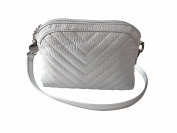 LQT Women's Fashion Two Straps Small Shoulder Bag Cross-Body Bag Clutch Silver