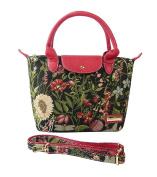 Victoria Tapestry - Lisa Handbag and convertible Shoulder Bag - Moon Flowers