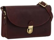 "Gusti Leder studio ""Zoey"" Genuine Leather Handbag Ladies Cross-Body Shoulder Bag Casual Vintage Style Dark Red 2H54-33-9"