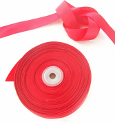 Red Grosgrain Ribbon. High End Double Face Spool. 2.5cm 50 Yards Roll by Drency Ribbons