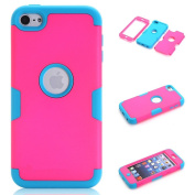 iPod Touch 6 Case,iPod Touch 5 Case, VPR 3 in 1 Shock Absorbing Case, Rubber Combo Hybrid Impact Silicone Armour Hard Case Cover for Apple iPod touch 5 6th Generation
