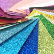 flic-flac 20cm x 22cm Glitter FabricThick Canvas Back Craft DIY Supplies