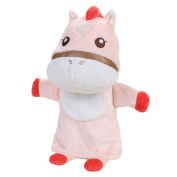 Remeehi Plush Cow Hand Puppet Story Telling Kids Children Kindergarten Arts and Easy Crafts Creativity Toys Pink