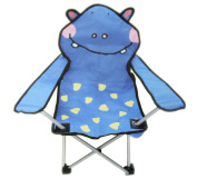 Kids Childrens Foldable Folding Camping Animal Chair - Blue Hippo