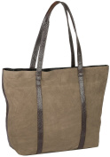 JosyJoe 'Sally' Shopping Bag / Handbag from Suede Leather, colour:Mud