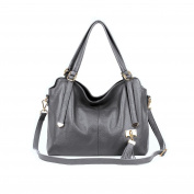 Women Handbag Wristlets, Xjp Fashionable Single Shoulder Bag Cowhide Leather Tote Bag Messenger Bag Purse for Ladies