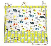 JustNile Large Pure Cotton Baby Nursery Crib Multilayer Hanging Storage Organiser Cot Tidy 9 pockets - Zoo Design
