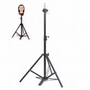 Adjustable Tripod Stand Holder Hairdressing Training Head Mould Mannequin Holder Salon Hair Clamp With Carrying Bag
