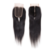 "Arling Brazilian Virgin Hair Human Hair Straight Bleached Knots Lace Closure (4""4"") Free Part 12inch"
