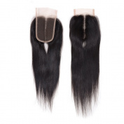 "Arling Brazilian Virgin Hair Human Hair Straight Bleached Knots Lace Closure (4""4"") Free Part 12inch"