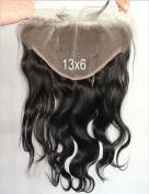 Lili Beauty Full Lace Frontal Closure Bleached Knots Brazilian Virgin Hair Silky Body Wave Nature Black 33cm X 15cm
