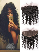 Lili Beauty Full Lace Frontal Closure Bleached Knots Brazilian Virgin Hair Silky Loose Wave Nature Black 33cm X 15cm