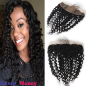 Rossy & Nancy 7A Brazilian Virgin Human Hair 13x 4 Silk Base Lace Ear to Ear Lce Frontal Closure Free Part with Baby Hair Natural Black Colour 130% High Density 46cm