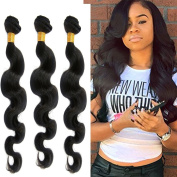 Feb'L Fleur Brazilian Body Wave Hair Extensions 100 Unprocessed Remy Human Virgin Black Hair Bundles
