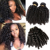 Foxys'Hair Brazilian Remy Loose Curly Human Hair Extensions Natural Colour Bouncy Curly Human Hair Weft Bundles Hair Weave 10-50cm 2 or 3 Bundles/Lot