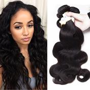 BeautyGrace Soft and Bouncy Body Wave Hair Extension 7A Grade Human Hair Bundle Brazilian Body Wave  .   No Tangle No Shedding 3PCS