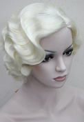 StrongBeauty Vintage Marilyn Monroe Cosplay Wig Short Wavy Flapper Wig