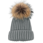 Winter Hat HP95(TM) Women Wool Knit Beanie Beret Ski Pom Pom Cap Winter Warm Hat