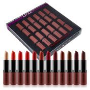SHANY Cosmetics Lipstick Set of 12 Long-lasting and Moisturising Creamy Colours with Various Finishes - Warm Wishes