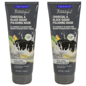 Freeman Facial Charcoal & Black Sugar Polish Mask 180ml - Set of 2