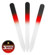 Bona Fide Beauty Crystal Nail File Black/Red
