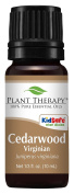 Plant Therapy Cedarwood Virginian Essential Oil 100% Pure, Undiluted, Therapeutic Grade 10 ml