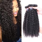 BLY Hair 4 Bundles 8 10 12 36cm 100% Unprocessed 6A Malaysian Virgin Kinky Curly Human Hair Weaves Deep Curly Hair Bundles Natural Black