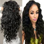 Lemoda Hair Brazilian Virgin Hair Water Wave 7A Grade Black Colour Human Hair Extension (100+/-5g)/piece