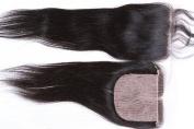 Helene Hair Brazilian Virgin Hair Full Silk Base Closure 4x 4 Human Hair Closure With Baby Hair,Brazilian Straight Hair Top Silk Base Lace Closures Part 20cm - 50cm Naturl Black Bleached Knots