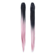 SWACC Long Straight Ombre Colour Claw Clip Ponytail Extension Synthetic Clip in Ponytail Hairpiece Jaw Clip Hair Extensions