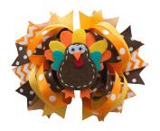 Thanksgiving Turkey Hair Clip for Girls Alligator Girl Fall Ribbon