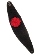 Nirvanna Designs HB01 Detachable Flower Headband with Buttons and Fleece