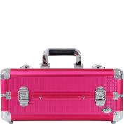 Jacki Design Carrying Aluminium Makeup or Salon Flat Train Case with Expandable Trays