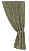 HiEnd Accents Chenille Paisley Curtain