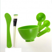 YANQINA DIY Homemade 6in1 Makeup Beauty Facial Face Mask Bowl Brush Spoon Stick Tool Set