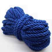 U Pick 10yds 5mm Decorative Twisted Satin Polyester Twine Cord Rope String Thread Shiny Cord Choker Thread