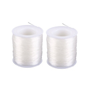 Eachbid 0.8 mm Clear Crystal Elastic Cord Thread Beading String Cords for Jewellery Making, 100 Metres, 2 Packs