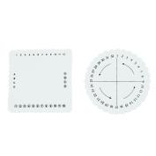 WinnerEco 2pcs Round Square Kumihimo Disc for Jewelery Making