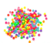 "10000PCs Mixed Acrylic Spacer Pony Beads 3mm(1/8"") Dia."