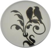 Retro Bird in Tree Print Glass Cabochon, Round, 25mm