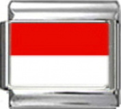 MONACO MONEGASQUE FLAG Photo Italian Charm 9mm - 1 x PC119 Single Bracelet Link
