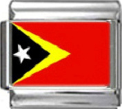 EAST TIMOR FLAG Photo Italian Charm 9mm Link - 1 x PC050 Single Bracelet Link