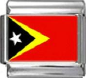 EAST TIMOR FLAG Photo Italian Charm 9mm Link - 1 x PC050 Single Bracelet Link