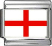 ENGLAND ENGLISH UK FLAG Photo Italian Charm 9mm - 1 x PC054 Single Bracelet Link