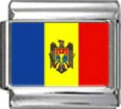 MOLDOVA MOLDOVAN FLAG Photo Italian Charm 9mm - 1 x PC118 Single Bracelet Link