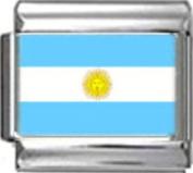 ARGENTINA ARGENTINEAN FLAG Photo Italian Charm 9mm - 1 x PC007 Single Bracelet Link