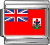 BERMUDA BERMUDIAN FLAG Photo Italian Charm 9mm - 1 x PC199 Single Bracelet Link